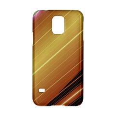 Diagonal Color Fractal Stripes In 3d Glass Frame Samsung Galaxy S5 Hardshell Case  by Simbadda