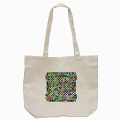 Colorful Dots Balls On White Background Tote Bag (cream) by Simbadda