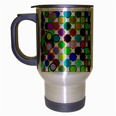 Colorful Dots Balls On White Background Travel Mug (silver Gray)