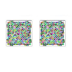 Colorful Dots Balls On White Background Cufflinks (square) by Simbadda