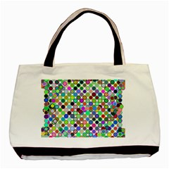 Colorful Dots Balls On White Background Basic Tote Bag (two Sides) by Simbadda