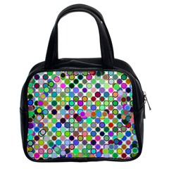 Colorful Dots Balls On White Background Classic Handbags (2 Sides) by Simbadda