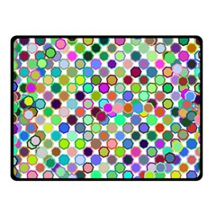 Colorful Dots Balls On White Background Fleece Blanket (small) by Simbadda