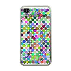 Colorful Dots Balls On White Background Apple Iphone 4 Case (clear) by Simbadda