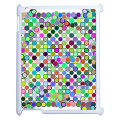 Colorful Dots Balls On White Background Apple Ipad 2 Case (white) by Simbadda