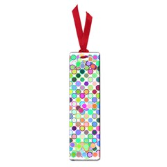 Colorful Dots Balls On White Background Small Book Marks by Simbadda