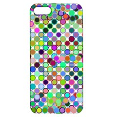 Colorful Dots Balls On White Background Apple Iphone 5 Hardshell Case With Stand by Simbadda