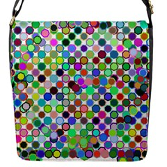 Colorful Dots Balls On White Background Flap Messenger Bag (s) by Simbadda