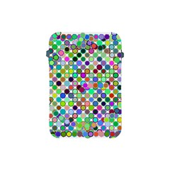Colorful Dots Balls On White Background Apple Ipad Mini Protective Soft Cases by Simbadda