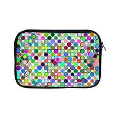 Colorful Dots Balls On White Background Apple Ipad Mini Zipper Cases by Simbadda