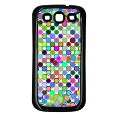 Colorful Dots Balls On White Background Samsung Galaxy S3 Back Case (black) by Simbadda