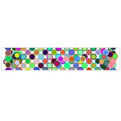 Colorful Dots Balls On White Background Flano Scarf (large) by Simbadda