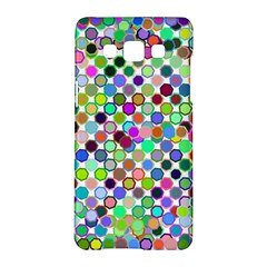 Colorful Dots Balls On White Background Samsung Galaxy A5 Hardshell Case  by Simbadda