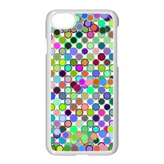 Colorful Dots Balls On White Background Apple Iphone 7 Seamless Case (white) by Simbadda