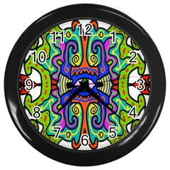 Abstract Shape Doodle Thing Wall Clocks (black) by Simbadda