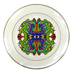 Abstract Shape Doodle Thing Porcelain Plates by Simbadda