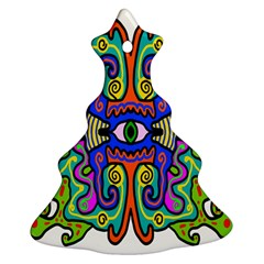 Abstract Shape Doodle Thing Christmas Tree Ornament (two Sides) by Simbadda