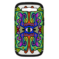 Abstract Shape Doodle Thing Samsung Galaxy S Iii Hardshell Case (pc+silicone) by Simbadda