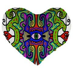 Abstract Shape Doodle Thing Large 19  Premium Heart Shape Cushions by Simbadda