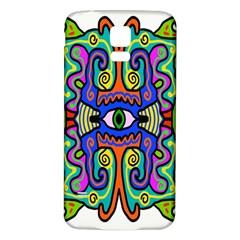 Abstract Shape Doodle Thing Samsung Galaxy S5 Back Case (white) by Simbadda