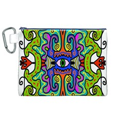 Abstract Shape Doodle Thing Canvas Cosmetic Bag (xl) by Simbadda