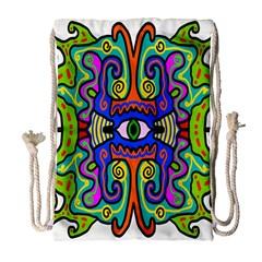 Abstract Shape Doodle Thing Drawstring Bag (large) by Simbadda