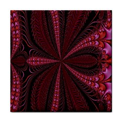 Red Ribbon Effect Newtonian Fractal Tile Coasters by Simbadda