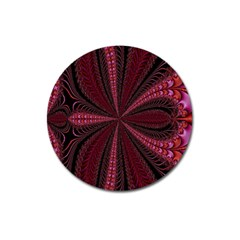 Red Ribbon Effect Newtonian Fractal Magnet 3  (round) by Simbadda