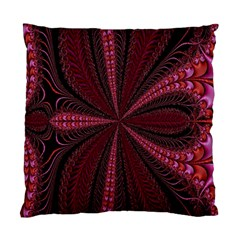 Red Ribbon Effect Newtonian Fractal Standard Cushion Case (one Side) by Simbadda