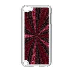 Red Ribbon Effect Newtonian Fractal Apple Ipod Touch 5 Case (white) by Simbadda