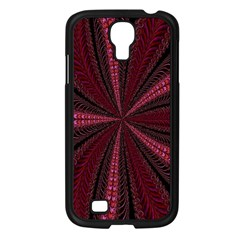Red Ribbon Effect Newtonian Fractal Samsung Galaxy S4 I9500/ I9505 Case (black) by Simbadda