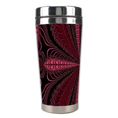 Red Ribbon Effect Newtonian Fractal Stainless Steel Travel Tumblers by Simbadda