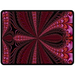 Red Ribbon Effect Newtonian Fractal Double Sided Fleece Blanket (large)  by Simbadda