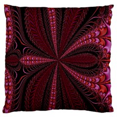Red Ribbon Effect Newtonian Fractal Large Flano Cushion Case (two Sides) by Simbadda