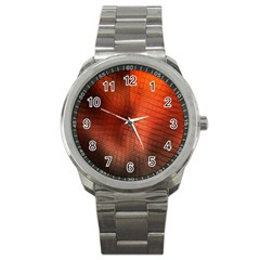 Background Technical Design With Orange Colors And Details Sport Metal Watch by Simbadda