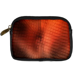 Background Technical Design With Orange Colors And Details Digital Camera Cases by Simbadda