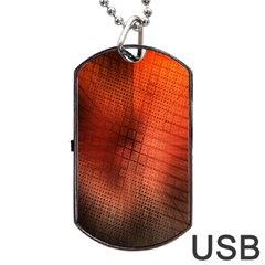 Background Technical Design With Orange Colors And Details Dog Tag Usb Flash (two Sides) by Simbadda