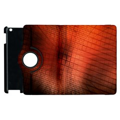 Background Technical Design With Orange Colors And Details Apple Ipad 2 Flip 360 Case by Simbadda