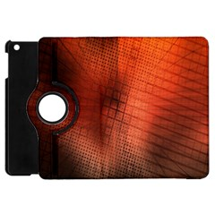 Background Technical Design With Orange Colors And Details Apple Ipad Mini Flip 360 Case by Simbadda
