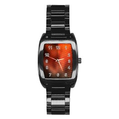 Background Technical Design With Orange Colors And Details Stainless Steel Barrel Watch by Simbadda