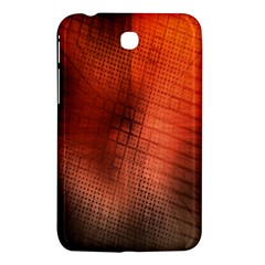 Background Technical Design With Orange Colors And Details Samsung Galaxy Tab 3 (7 ) P3200 Hardshell Case  by Simbadda