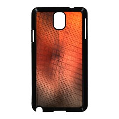 Background Technical Design With Orange Colors And Details Samsung Galaxy Note 3 Neo Hardshell Case (black) by Simbadda