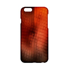 Background Technical Design With Orange Colors And Details Apple Iphone 6/6s Hardshell Case by Simbadda