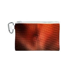 Background Technical Design With Orange Colors And Details Canvas Cosmetic Bag (s) by Simbadda