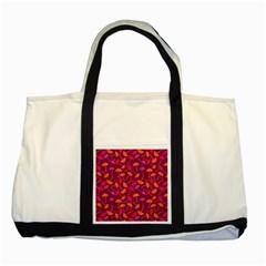 Umbrella Seamless Pattern Pink Lila Two Tone Tote Bag by Simbadda