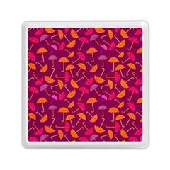 Umbrella Seamless Pattern Pink Lila Memory Card Reader (square)  by Simbadda