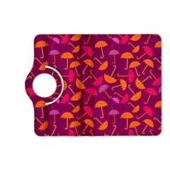 Umbrella Seamless Pattern Pink Lila Kindle Fire Hd (2013) Flip 360 Case by Simbadda