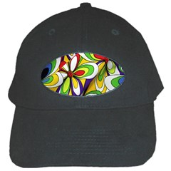 Colorful Textile Background Black Cap by Simbadda