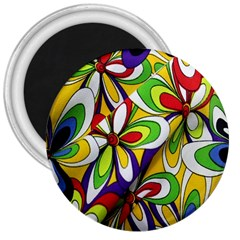 Colorful Textile Background 3  Magnets by Simbadda