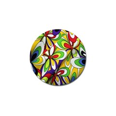 Colorful Textile Background Golf Ball Marker (4 Pack) by Simbadda